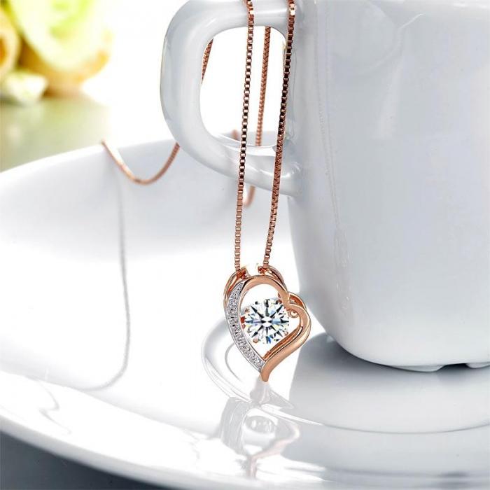 Colier Borealy Argint 925 Dancing Diamond Heart [2]