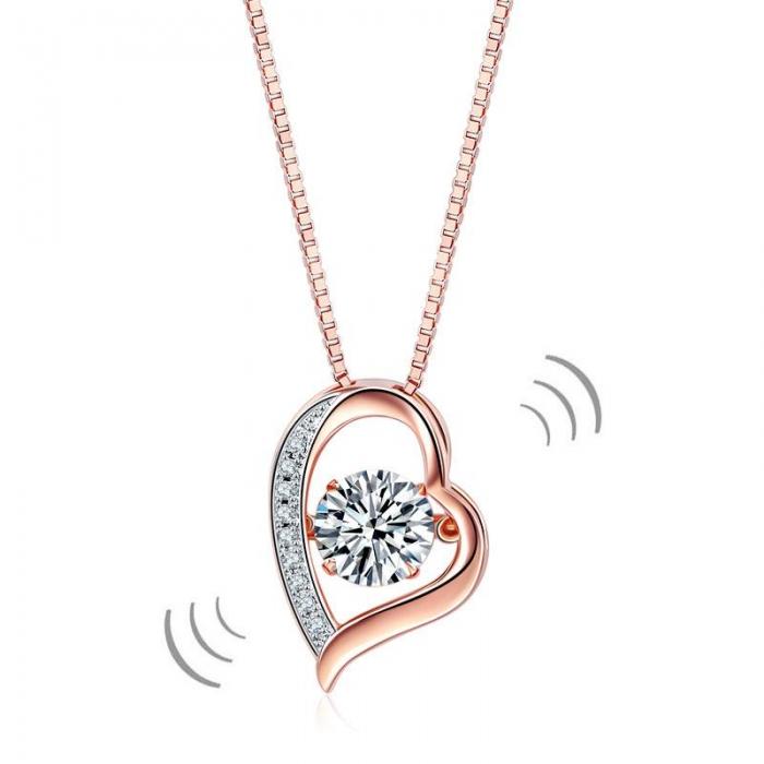 Colier Borealy Argint 925 Dancing Diamond Heart [0]