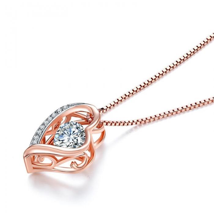 Colier Borealy Argint 925 Dancing Diamond Heart [1]
