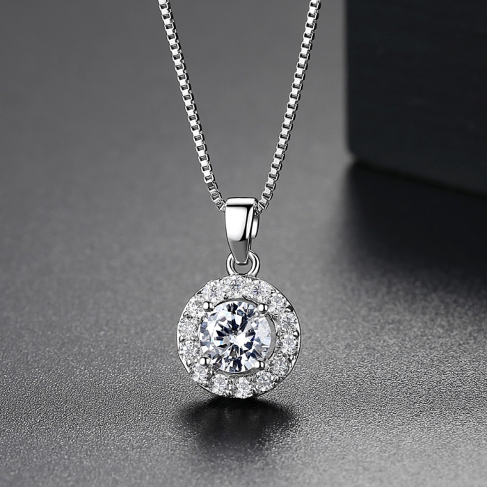 Colier Borealy Diamond Halo One-big