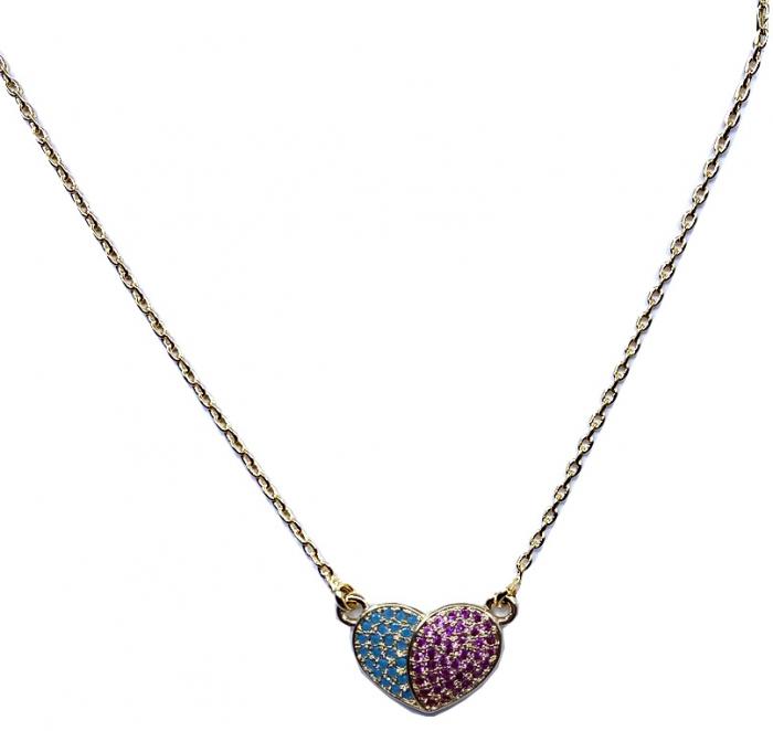 Colier Borealy Pure Heart, placat cu aur 0