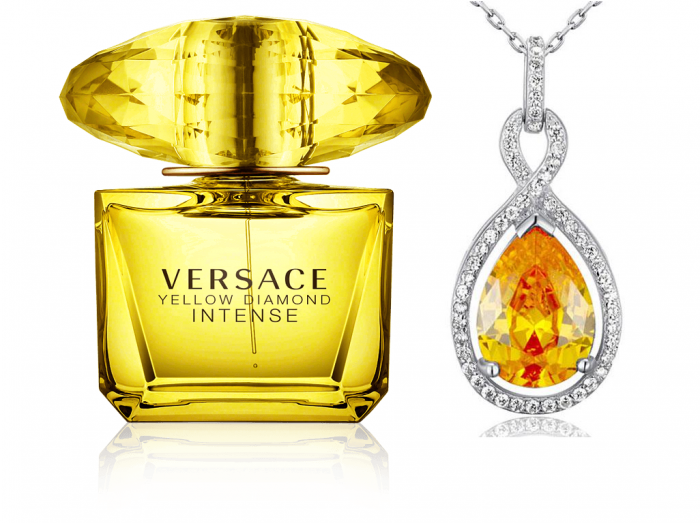 Versace Yellow Diamonds  & Colier Borealy Argint 925 Yellow Sapphire Fancy 0
