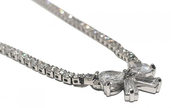 Colier Bridal Fine Bow by Borealy-big