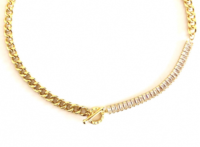 Colier Chain & Tennis Gold 1