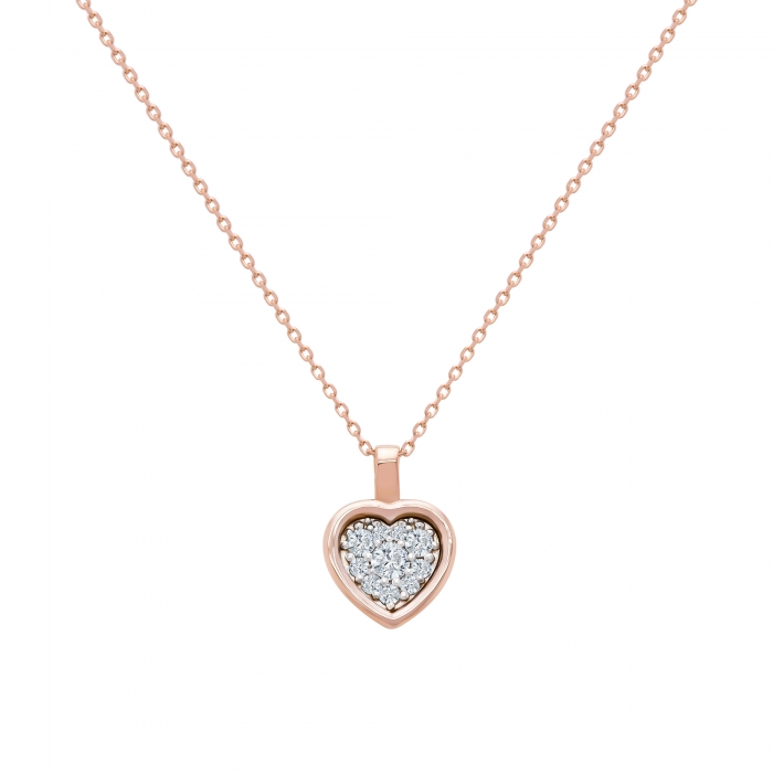 Colier din aur rose 18k cu diamante-big