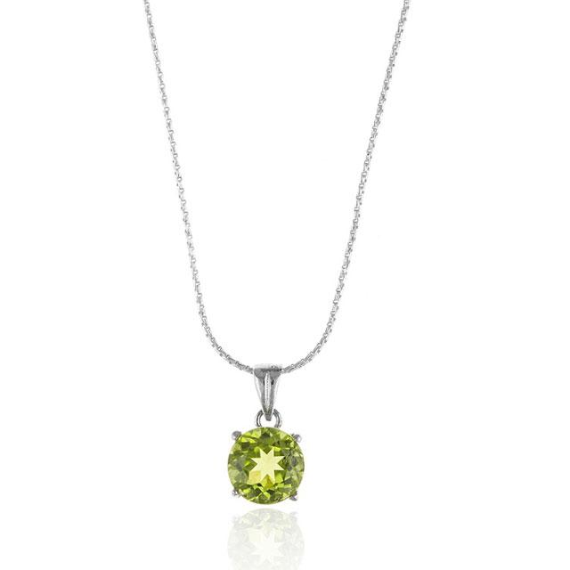 Colier Peridot Natural Argint 925-big