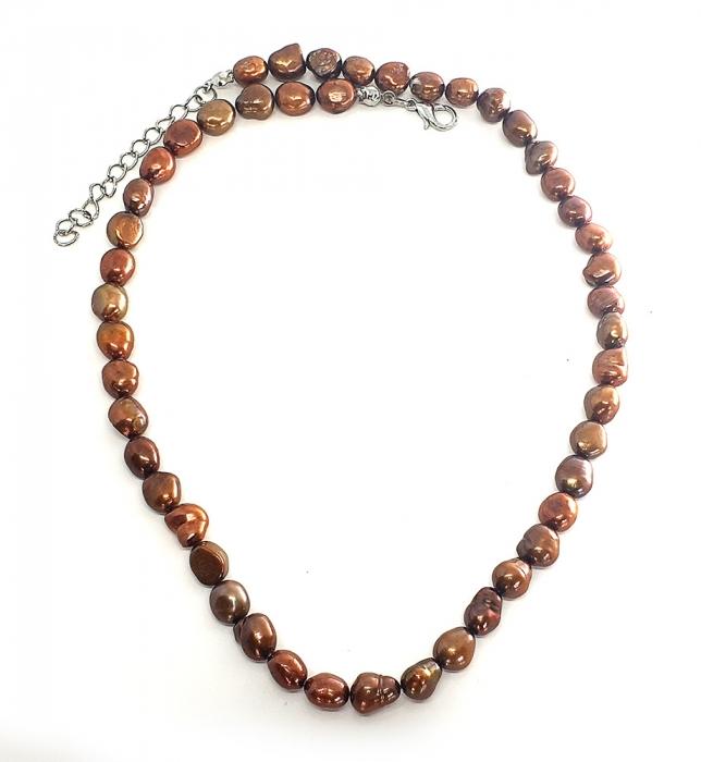 Set Colier si Bratara din Perle Naturale Bronze [0]