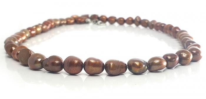 Set Colier si Bratara din Perle Naturale Bronze [1]