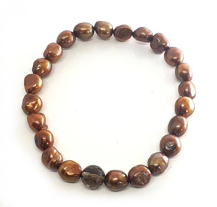 Set Colier si Bratara din Perle Naturale Bronze [2]