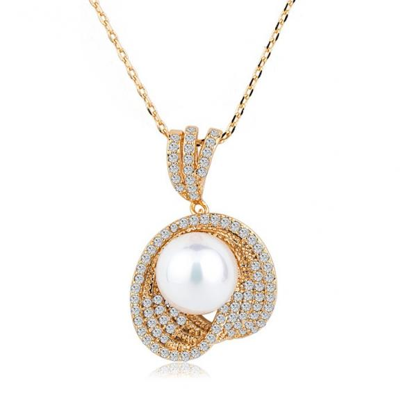 Colier Borealy Gold Shell Pearl 0