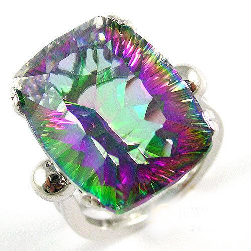 Colier - Inel Topaz Mistic Natural Rainbow 22 carate Argint 925-big