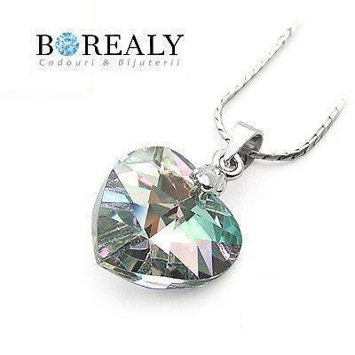 Colier 28 mm Heart Aurora Borealy-big