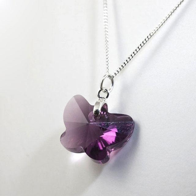 Colier Borealy Amethyst 18 mm Butterfly-big