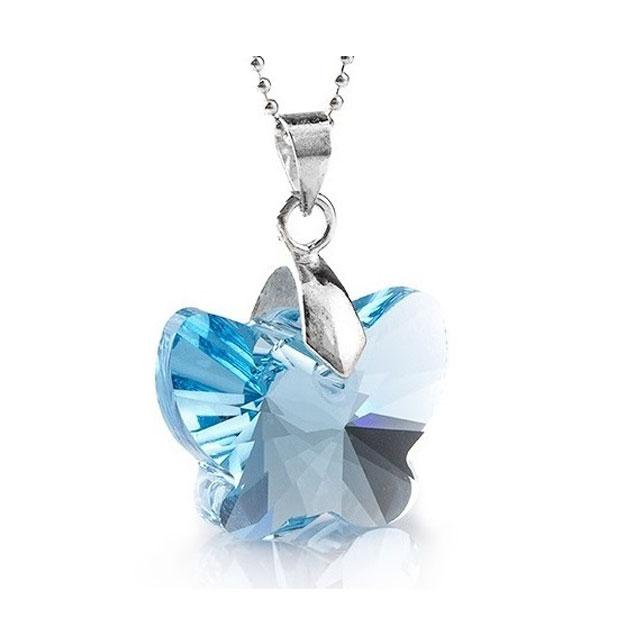Colier Borealy Aquamarine 18 mm Butterfly 0