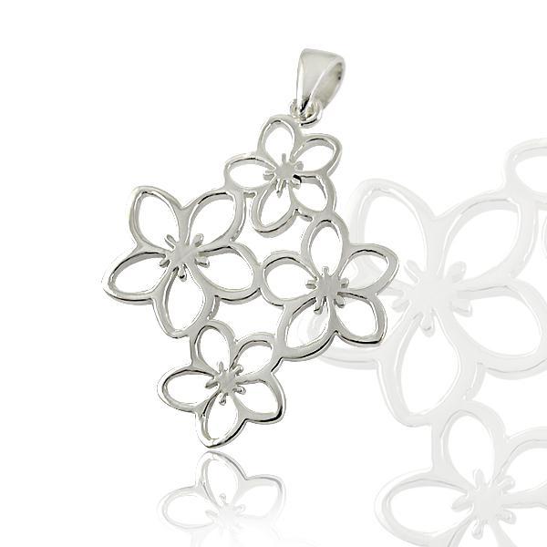 Medalion Borealy Argint 925 White Flower 0