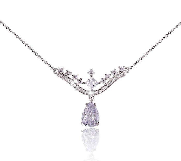 Colier Borealy Argint 925 Romantic Bride Pear Drop 1