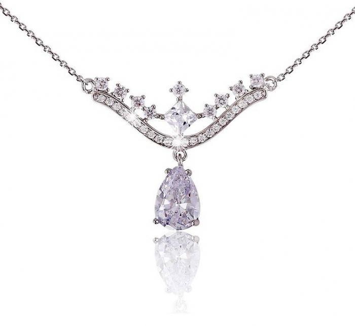 Colier Borealy Argint 925 Romantic Bride Pear Drop 0