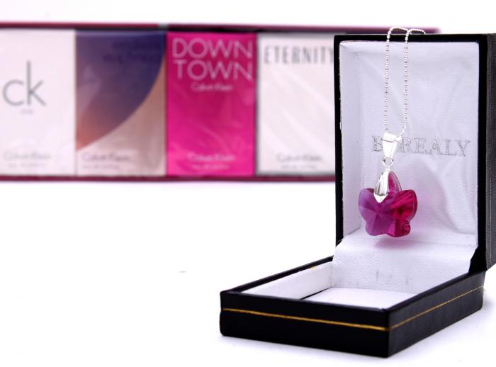 Colier Butterfly Fuchsia & Deluxe Travel Collection Calvin Klein 1