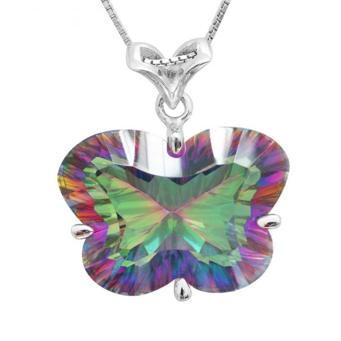 Colier Butterfly Mystic Topaz Argint 925 Borealy 0