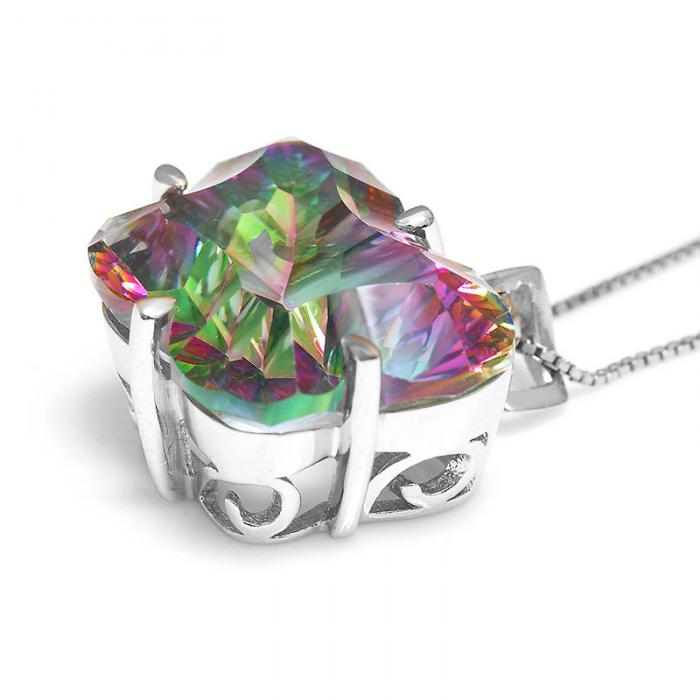Colier Butterfly Mystic Topaz Argint 925 Borealy 3