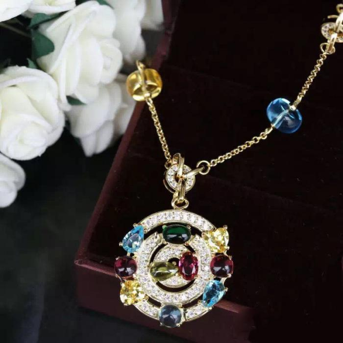 Colier Borealy Circle Colours Luxury-big
