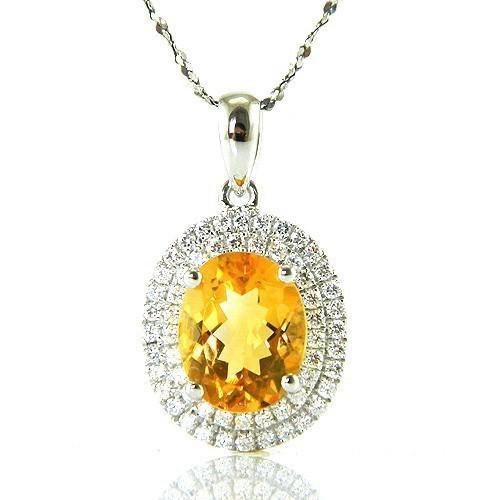 Citrine Luxury 3,15 carate - pietre preţioase naturale & Argint 925 0