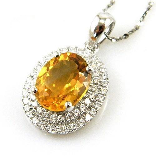 Citrine Luxury 3,15 carate - pietre preţioase naturale & Argint 925 1