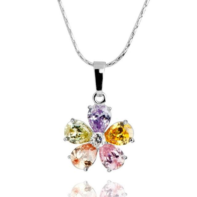 Colier Borealy Topaz Colour Flower 0