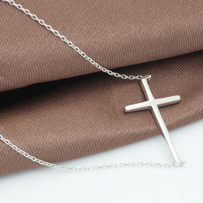 Colier Cross Solid Argint 925 1