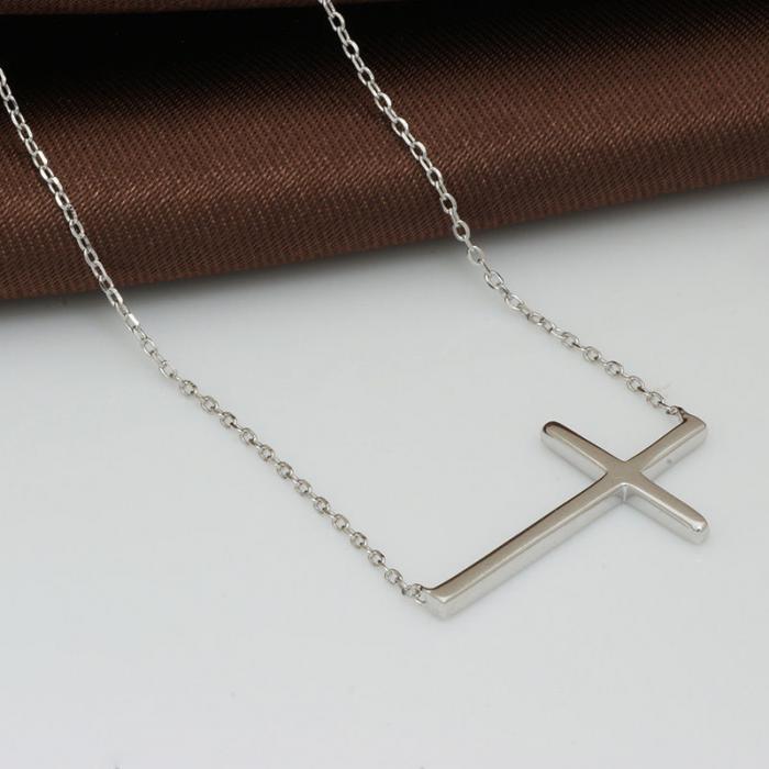 Colier Cross Solid Argint 925 3