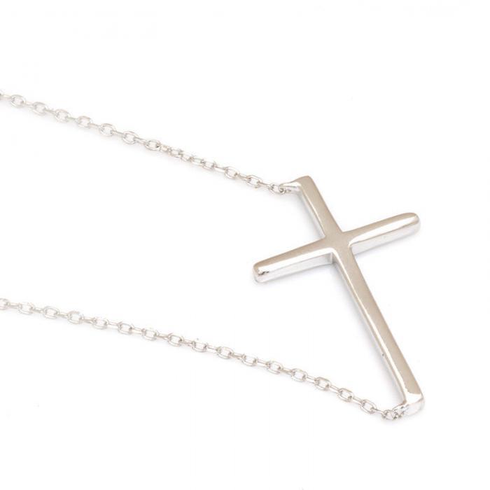 Colier Cross Solid Argint 925 2