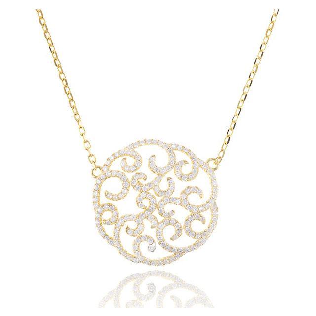 Colier Borealy Argint 925 Dantelle Duchesse Gold-big