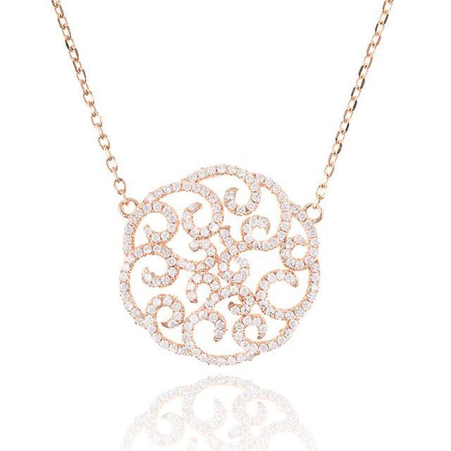 Colier Borealy Argint 925 Dantelle Duchesse Pink-big