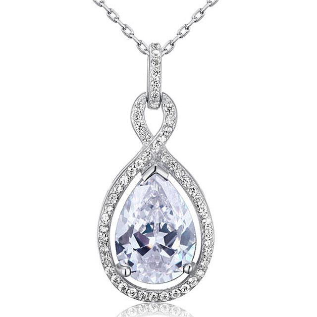 Colier Borealy Argint 925 Simulated Diamonds Drop 0