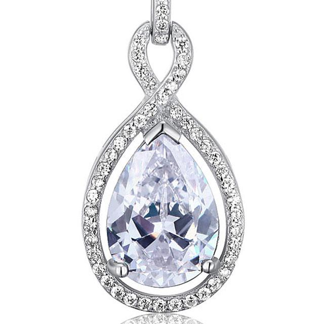 Colier Borealy Argint 925 Simulated Diamonds Drop 2
