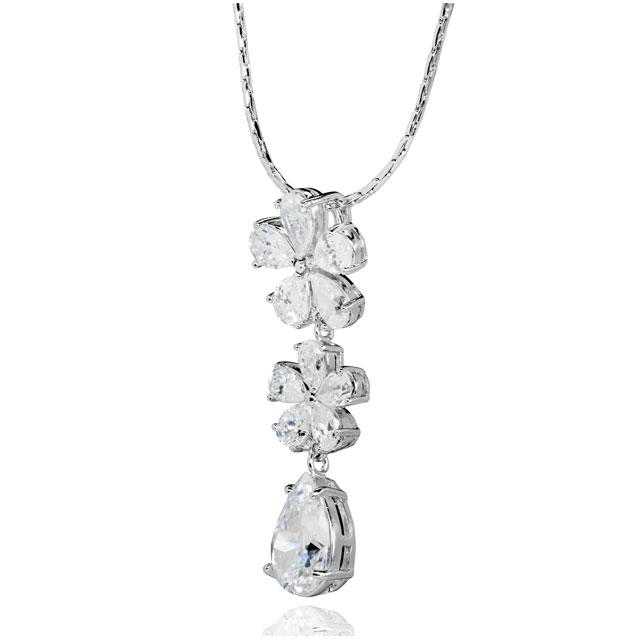 Colier Borealy Diamonds Flowers 1
