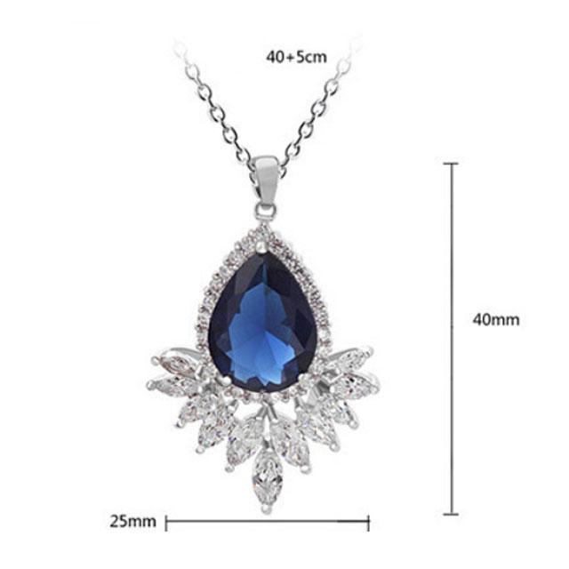 Colier Grammy Safir Pear Diamond Marquise 1