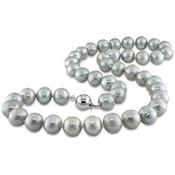 Silver Purple Pearls Necklace 2