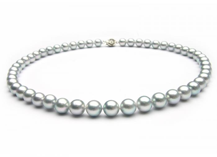 Silver Purple Pearls Necklace 0