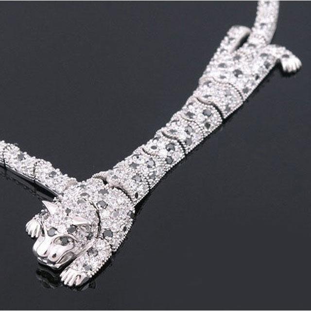 Colier Borealy Simulated Diamonds Leopard 2