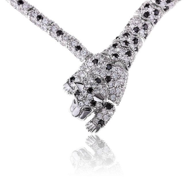 Colier Borealy Simulated Diamonds Leopard 0