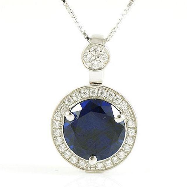 Colier One Ocean Blue Safir - Argint 925-big