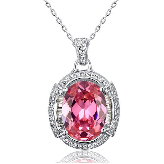 Colier One Passion Pink Simulated Diamonds 925 Sterling Silver 0