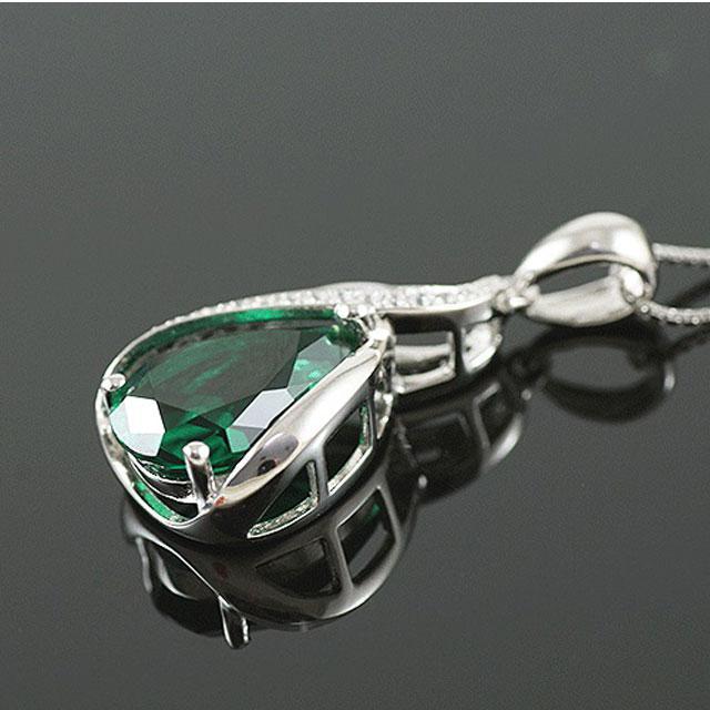 Colier Borealy Argint 925 Smarald 1,5 carate Orhidee Luxury 1