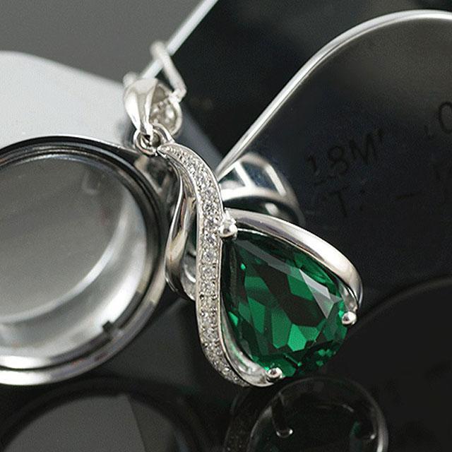 Colier Borealy Argint 925 Smarald 1,5 carate Orhidee Luxury 3