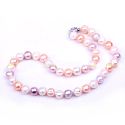 Baroque Freshwater Perle Necklace 10 mm AA-big