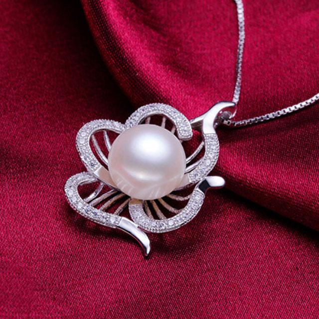 Colier Borealy Argint 925 Perle Flower-big