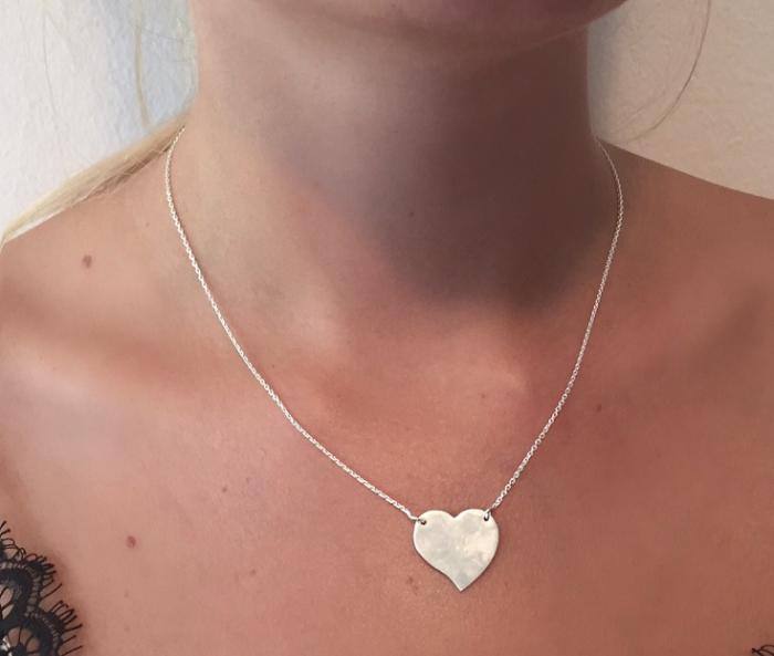 Colier Personalizat Borealy Argint 925 Graphic Heart 1