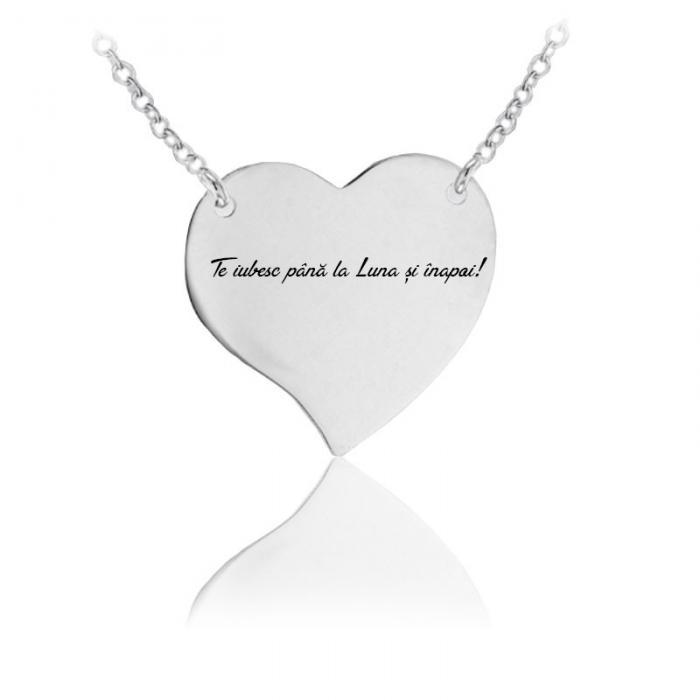 Colier Personalizat Borealy Argint 925 Graphic Heart 0