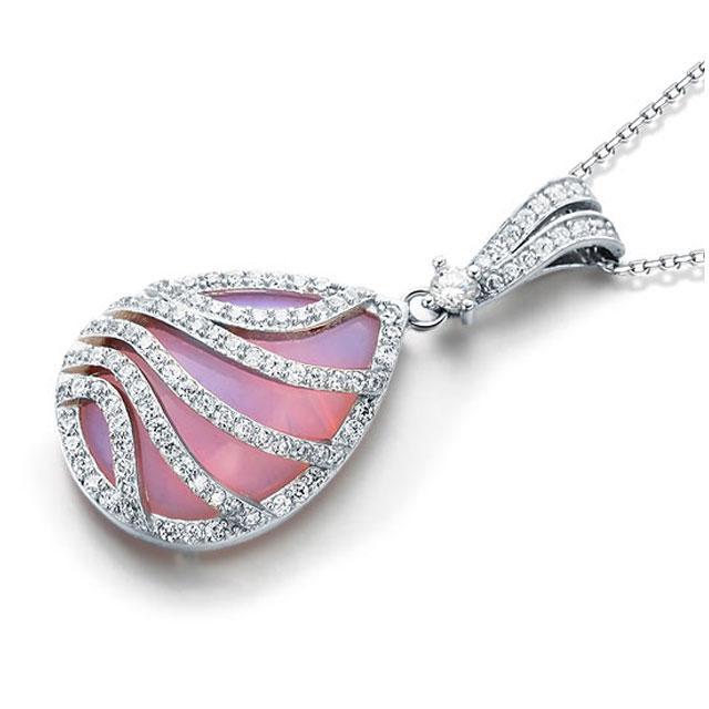 Colier Pink Moon Stone Argint 925 1